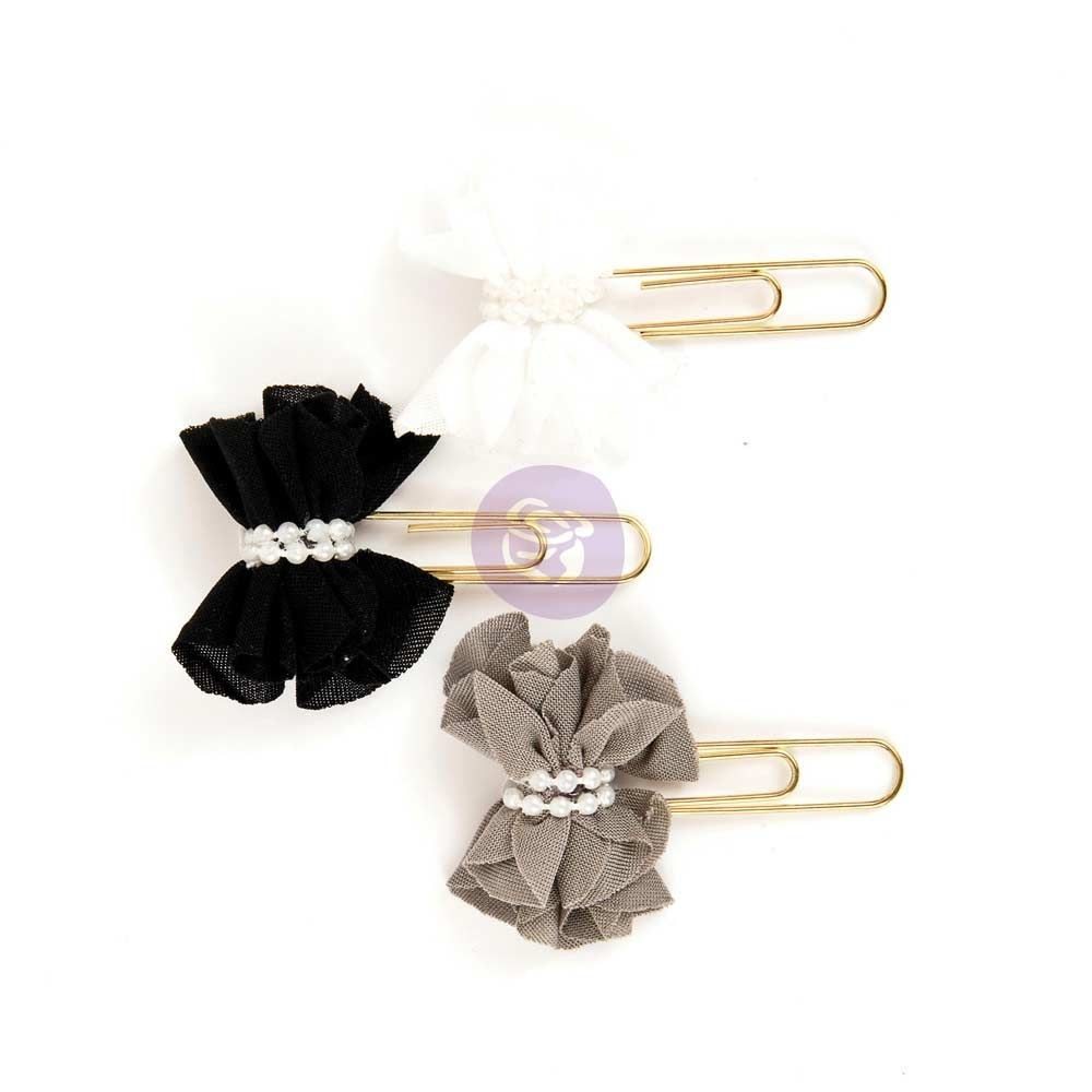 Prima Marketing My Prima Planner Clips - White Noir