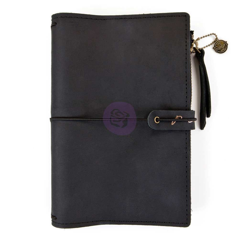 Prima Marketing Prima Traveler''s Journal Leather Essential - Nightfall