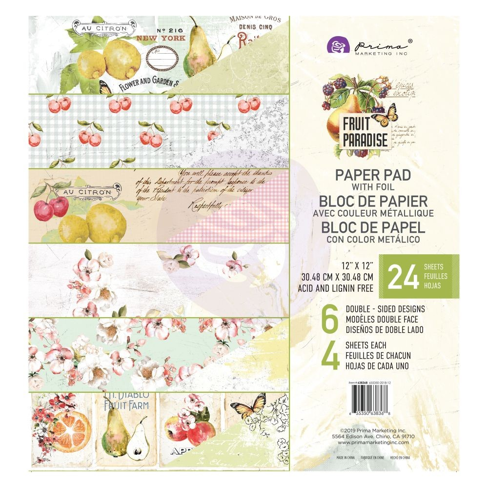 Prima Marketing Fruit Paradise 12X12 Paper Pad