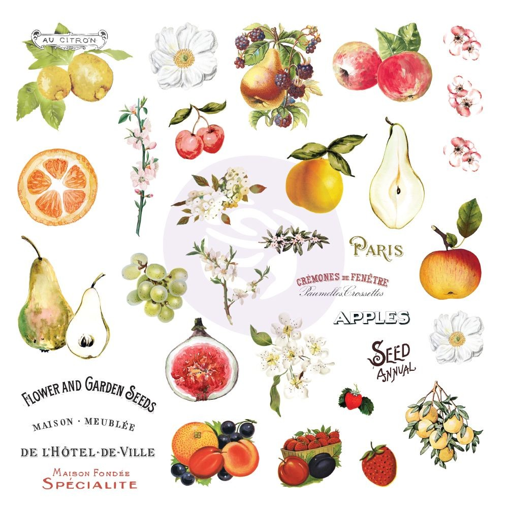 Prima Marketing Fruit Paradise Ephemera With Stickers