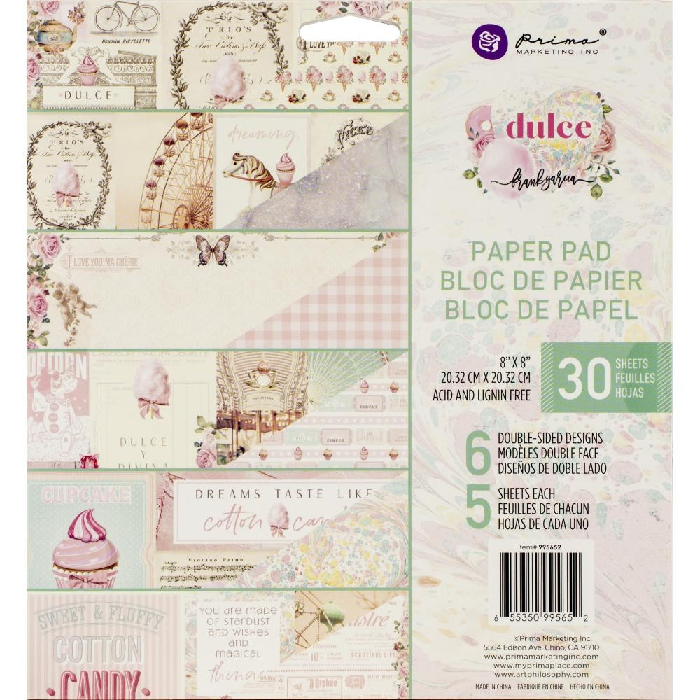 Prima Marketing Dulce Collection 8x8 Paper Pad