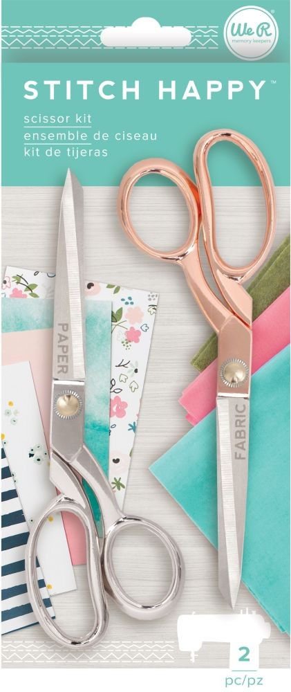 We R Memory Keepers Stitch Happy Accessories - Scissors - (2 Piece)