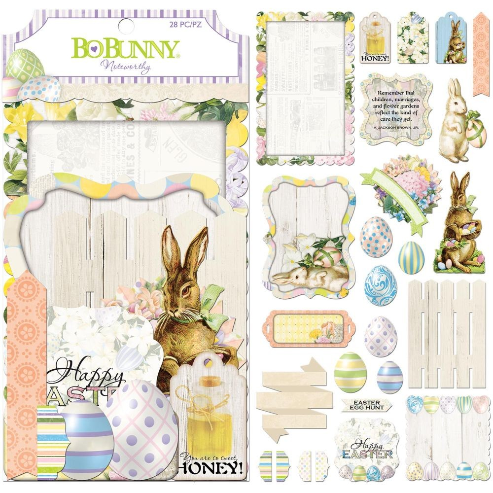 Bo Bunny Cottontail - Noteworthy - (28 Pieces)