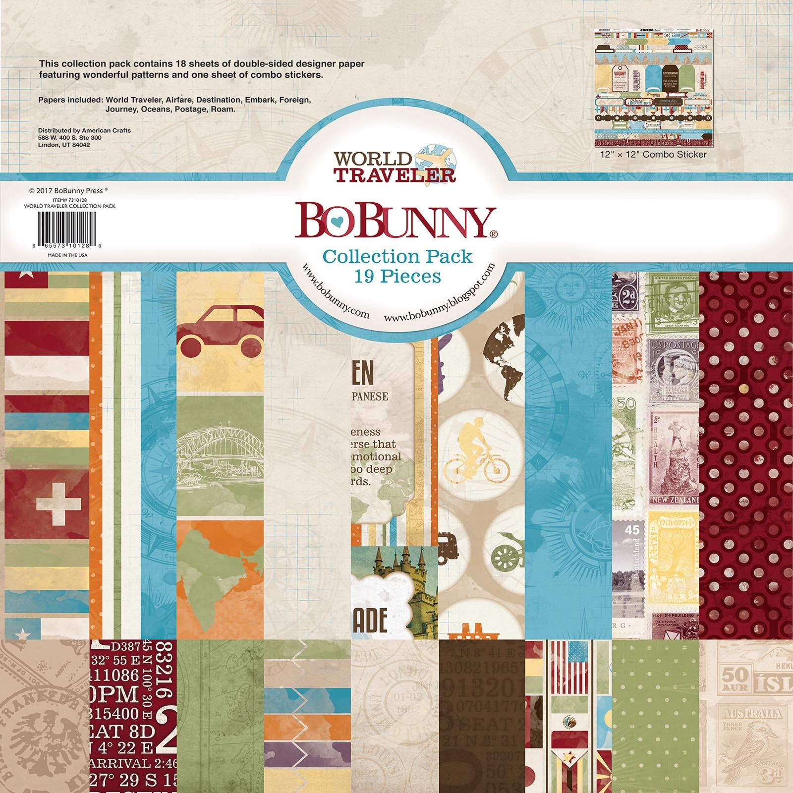 Bo Bunny World Traveler 12x12 Collection Pack