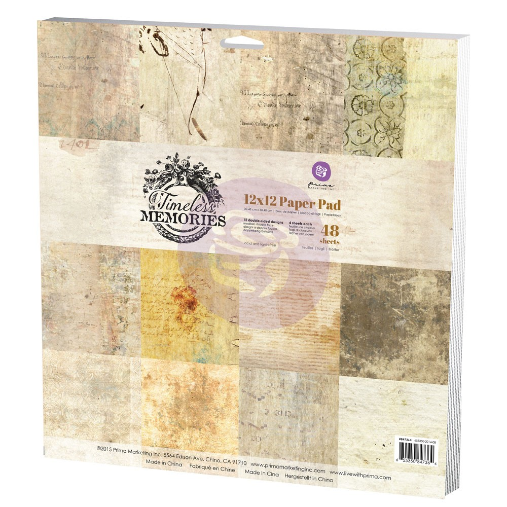 Prima Marketing 12x12 Paper Pad - Timeless Memories