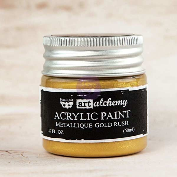 Prima Marketing Art Alchemy-Acrylic Paint-Metallique Gold Rush 1.7oz
