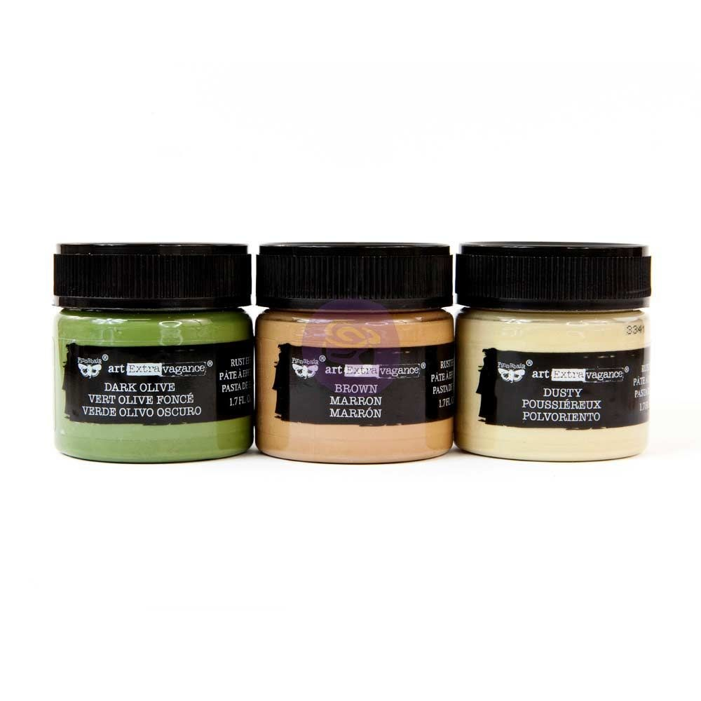 Prima Marketing Art Extravagance - Rust Paste - Camouflage set of 3