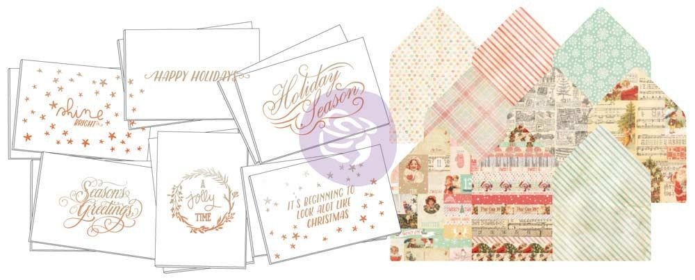 Prima Marketing Sweet Peppermint Christmas Watercolor Card Kit