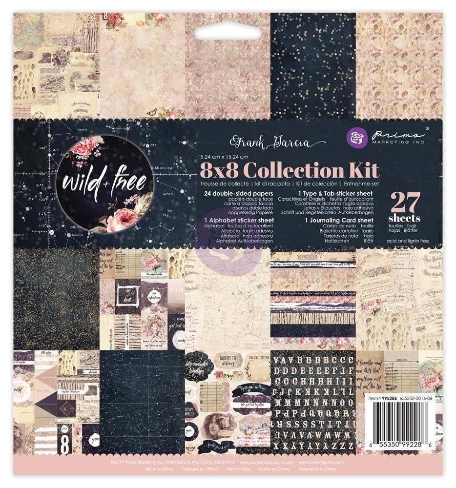 Prima Marketing 8x8 Collection Kit - Wild & Free