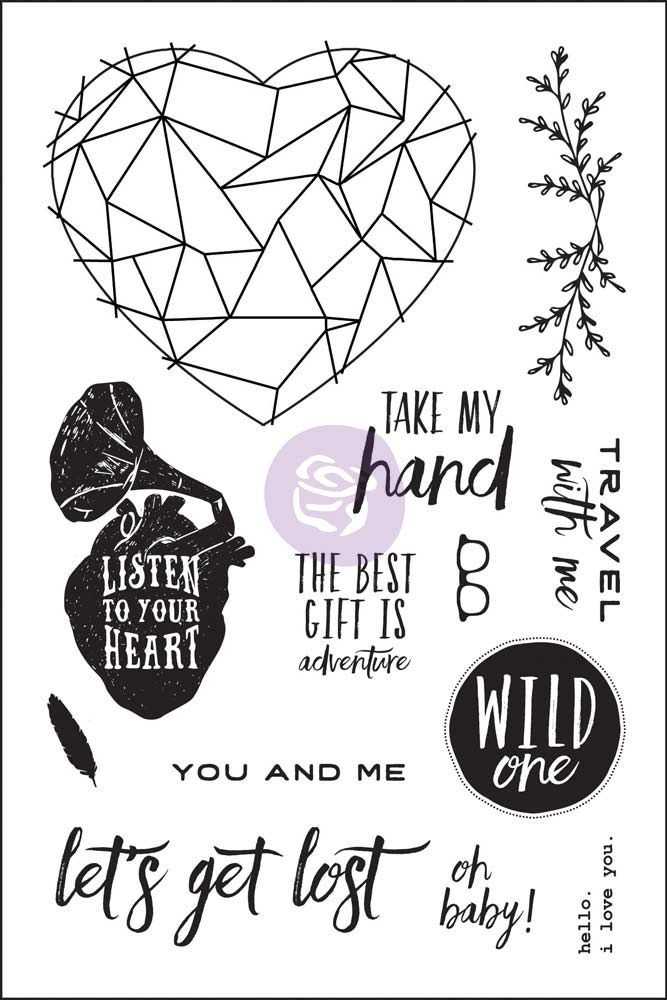 Prima Marketing 4x6 Cling Stamp - Wild & Free