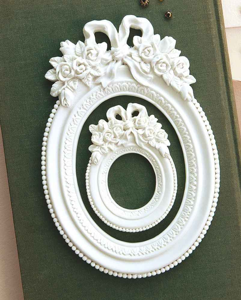 Prima Marketing Memory Hardware Resin Frames - Blanc Fleur Oval Frame
