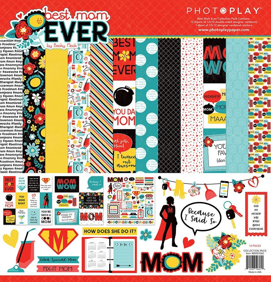 PhotoPlay Best Mom Ever 12x12 Collection Pack