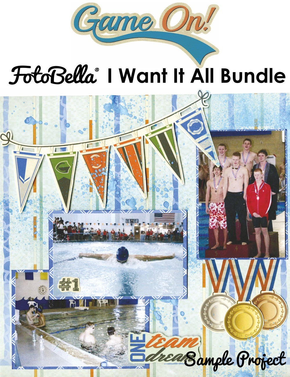Bo Bunny Game On I Want It All! 12x12 Collection Bundle