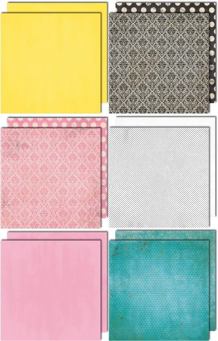 Bo Bunny Summer Mood 12x12 Coordinating Double Dot Paper Bundle
