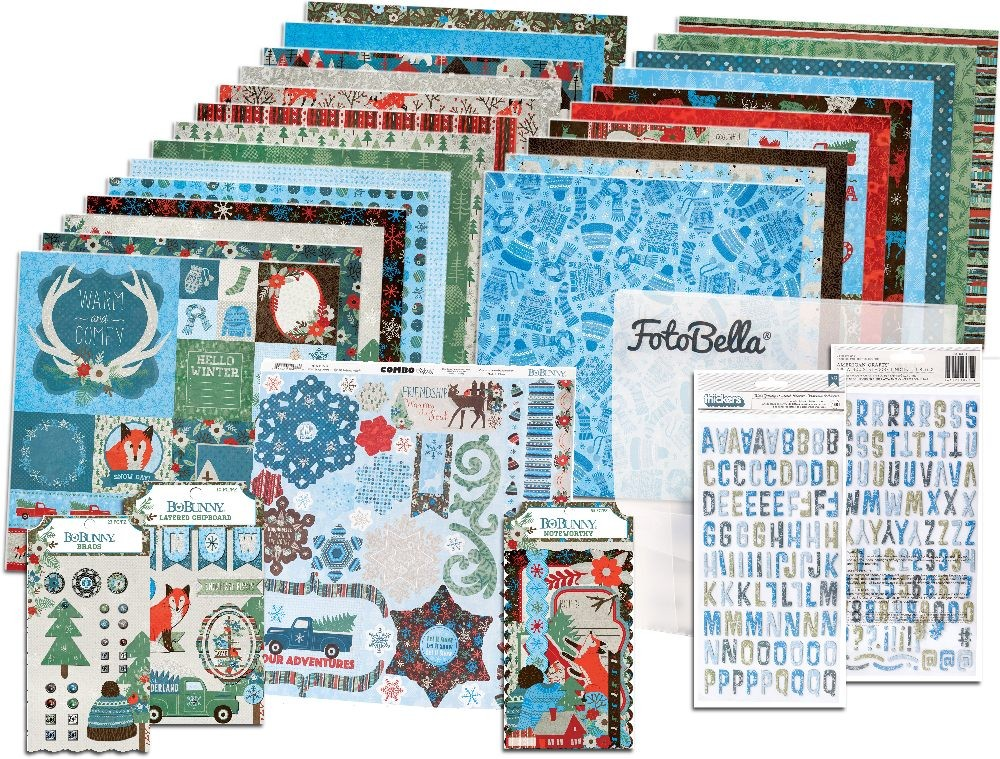 Bo Bunny Winter Getaway I Want It All! 12x12 Collection Bundle