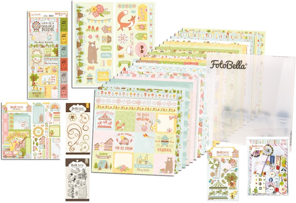 Bo Bunny Weekend Adventures I Want It All! 12x12 Collection Bundle