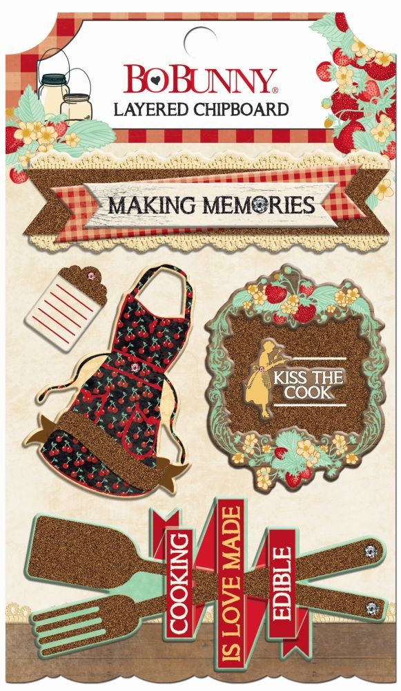 Bo Bunny Kiss the Cook Layered Chipboard