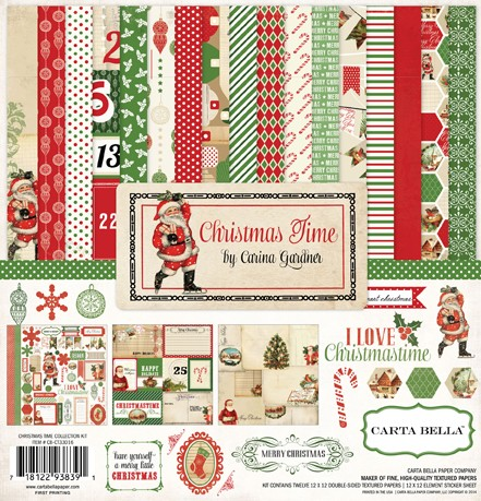 Carta Bella Christmas Time 12x12 Collection Kit