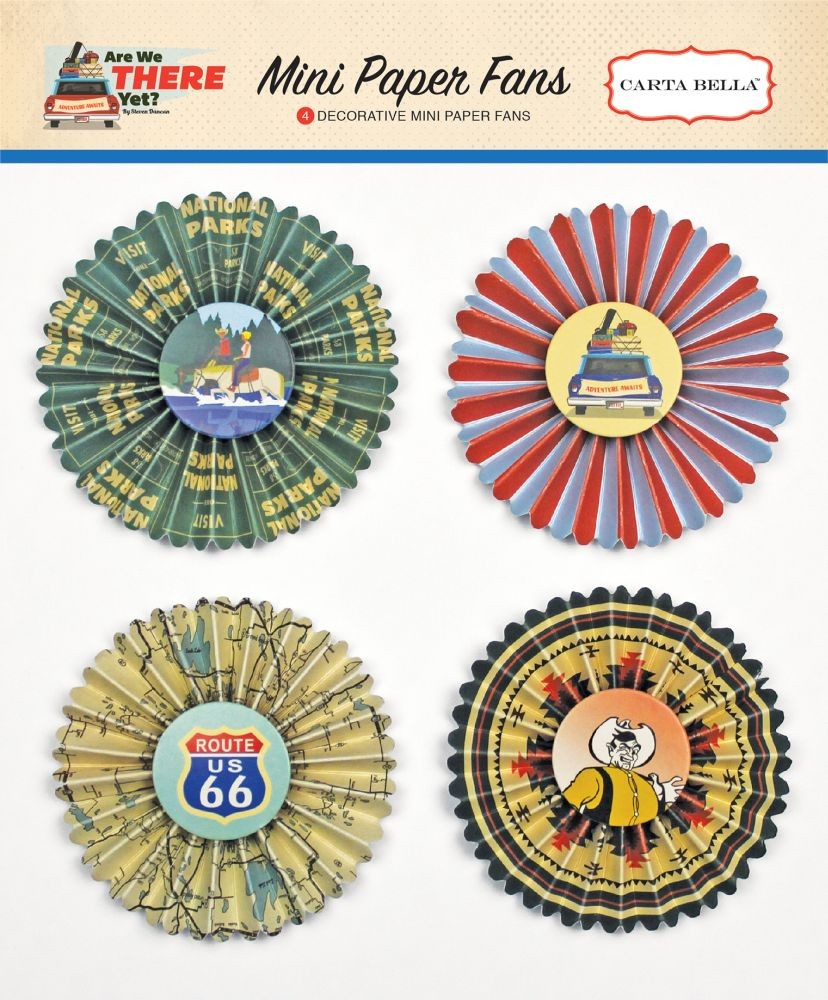 Carta Bella Are We There Yet Mini Paper Fans