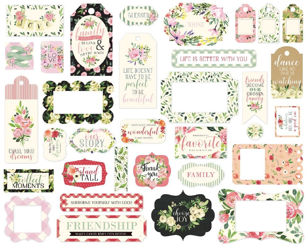 Carta Bella Botanical Garden Frames & Tags