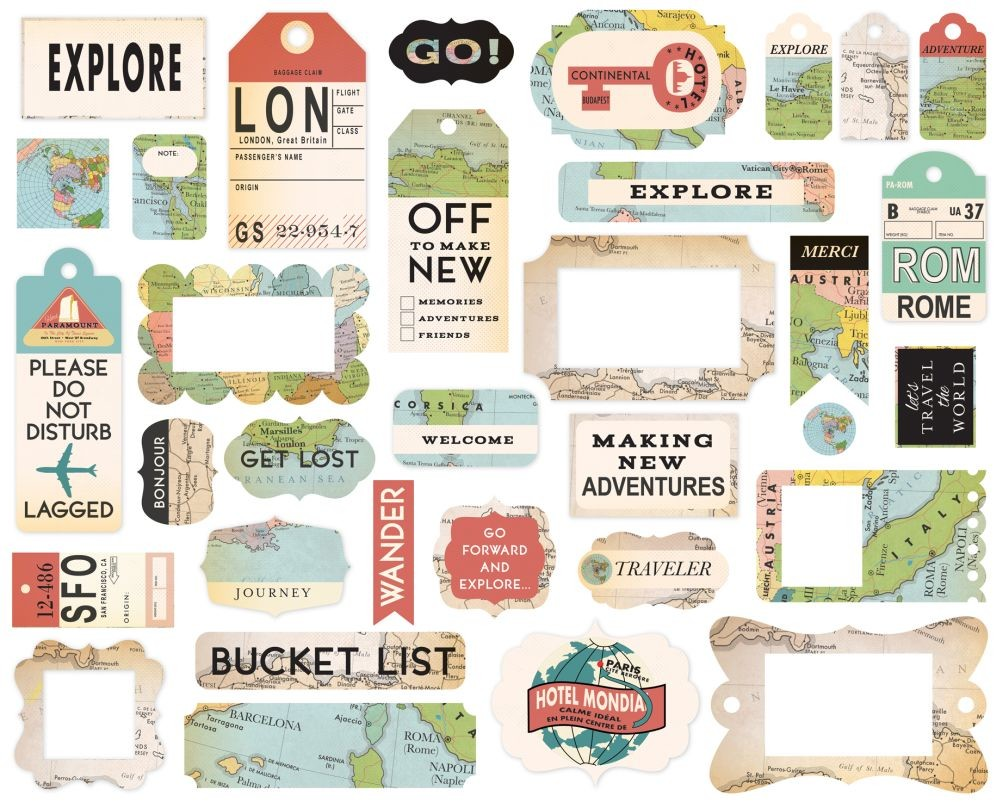 Carta Bella Cartography No. 1 Frames & Tags
