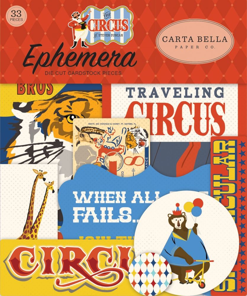 Carta Bella Circus Ephemera