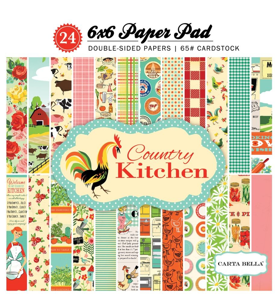 Carta Bella Country Kitchen 6x6 Paper Pad
