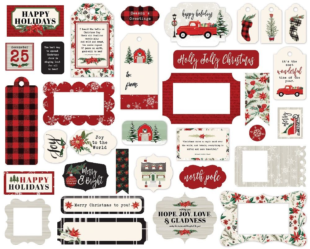 Carta Bella Christmas Market Frames & Tags