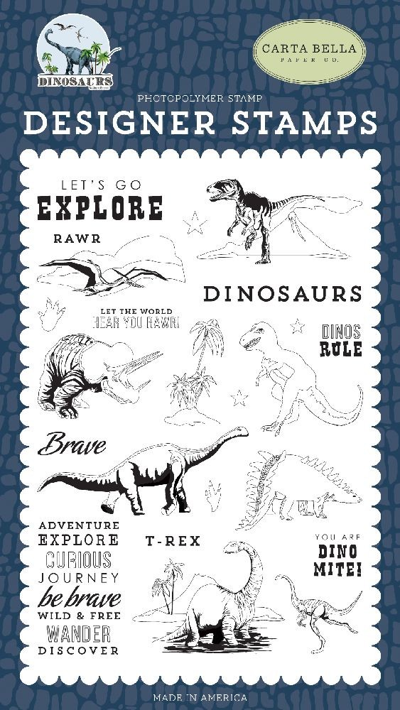 Carta Bella Dinos Rule Stamp Set