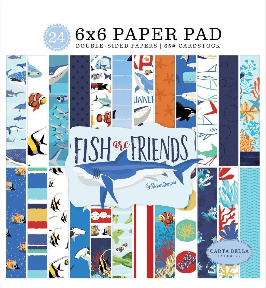 Carta Bella Fish Are Friends 6x6 Paper Pad