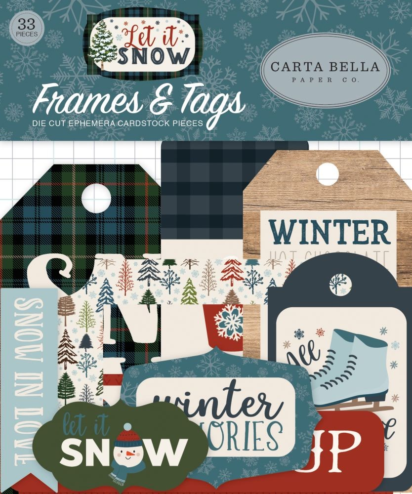 Carta Bella Let It Snow Frames & Tags Ephemera