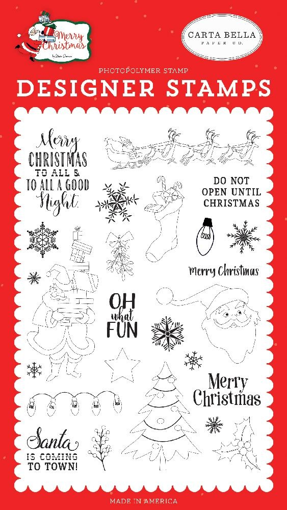 Carta Bella Oh What Fun Stamp Set