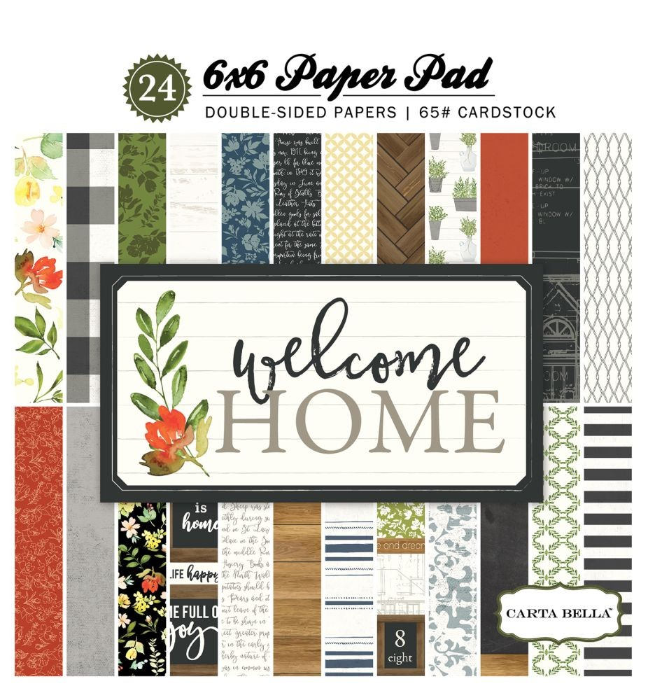 Carta Bella Welcome Home 6x6 Paper Pad