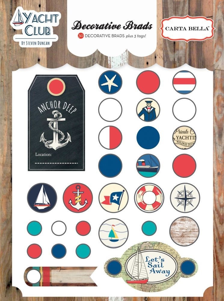 Carta Bella Yacht Club Decorative Brads