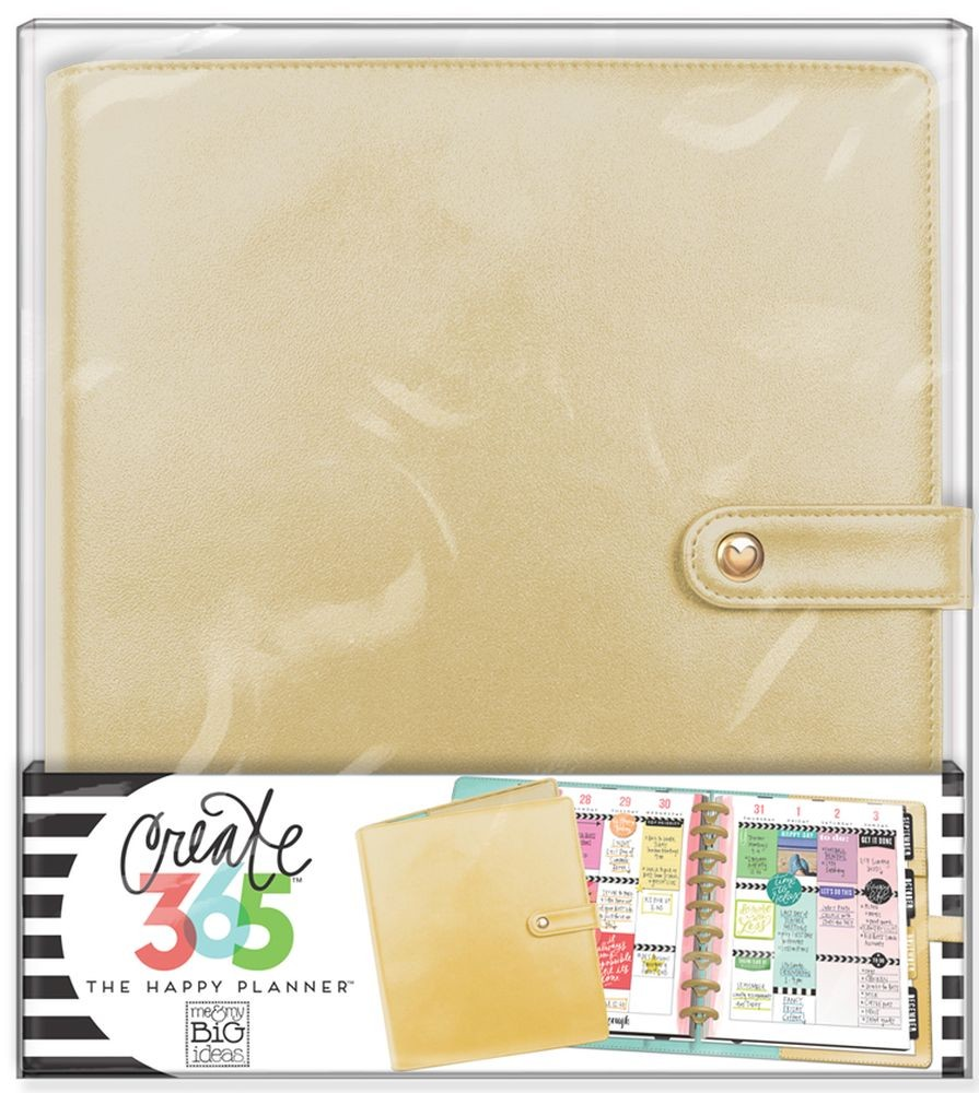 Me & My Big Ideas Create 365 The Happy Planner Deluxe Cover - Gold (Classic)