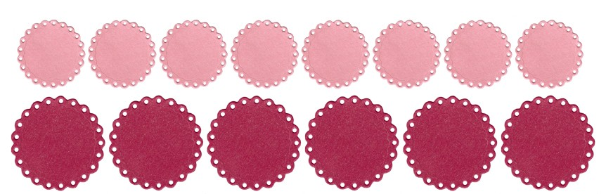 Lifestyle Crafts Eyelet Circle Punches - QuicKutz Punch Dies