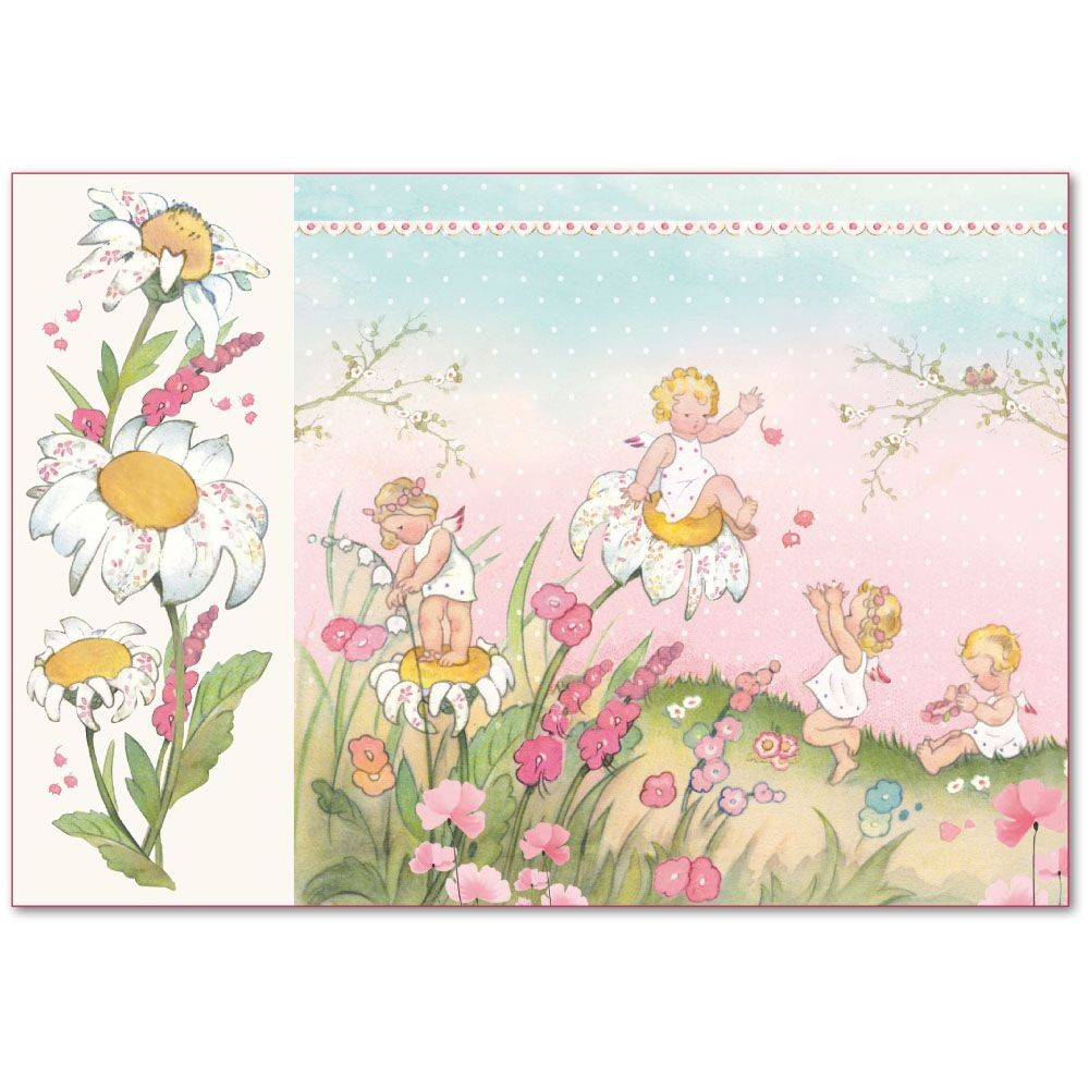Stamperia Decoupage Rice Paper 48x33 Baby Girl