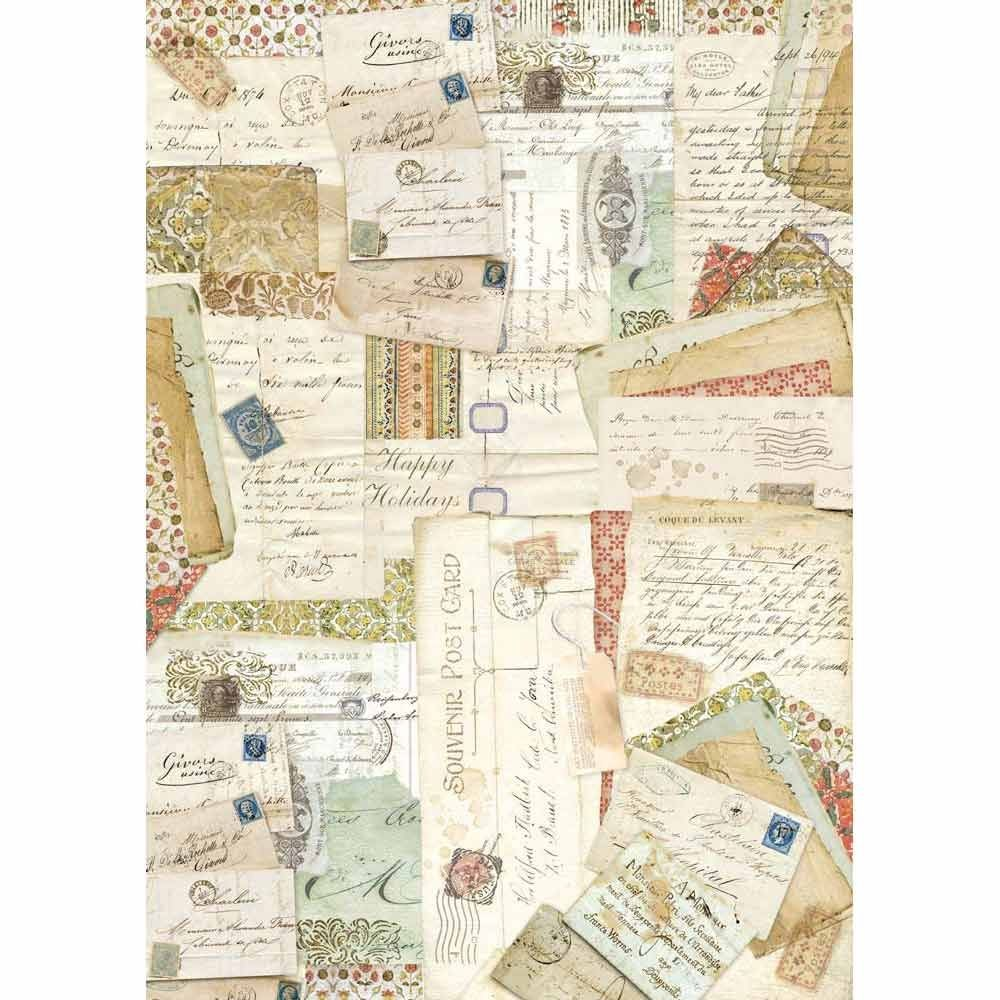 Stamperia A3 Decoupage Rice Paper packed Postcards