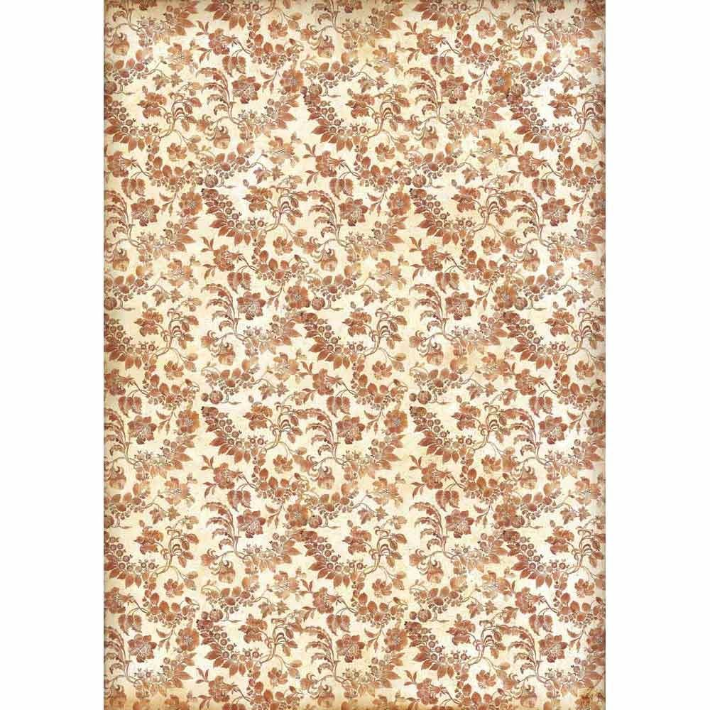 Stamperia A3 Decoupage Rice Paper packed Wallpaper with flowers and leaves