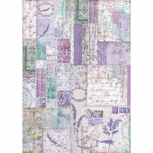 Stamperia A3 Rice paper packed Provence Patchwork