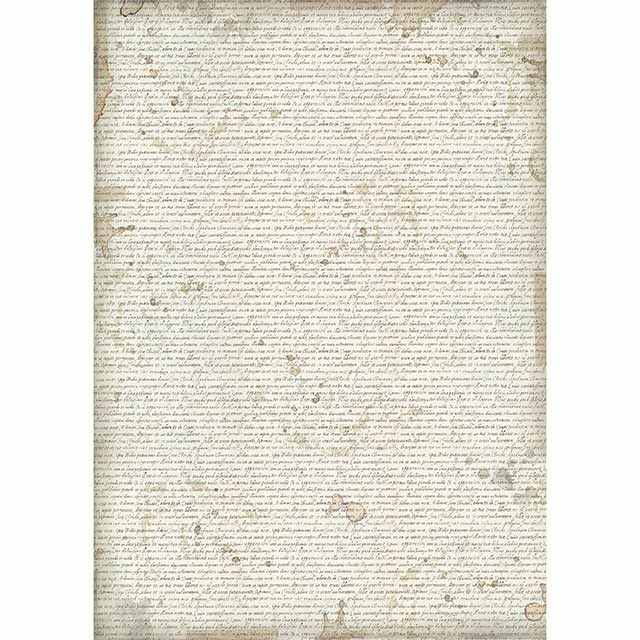 Stamperia A3 Rice Paper Packed Written Wallpaper