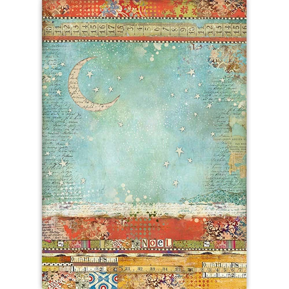 Stamperia A3 Rice paper packed Moon