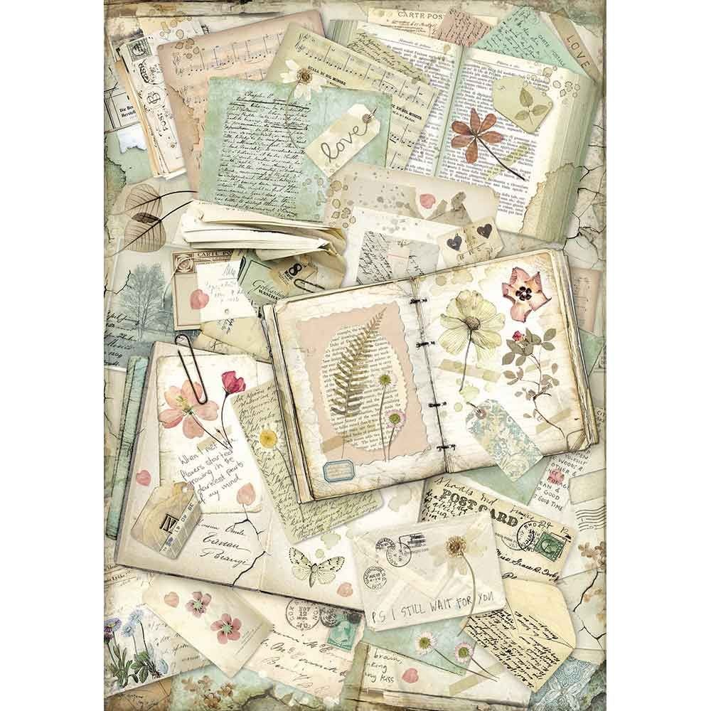 Stamperia A3 Rice paper packed Notebooks