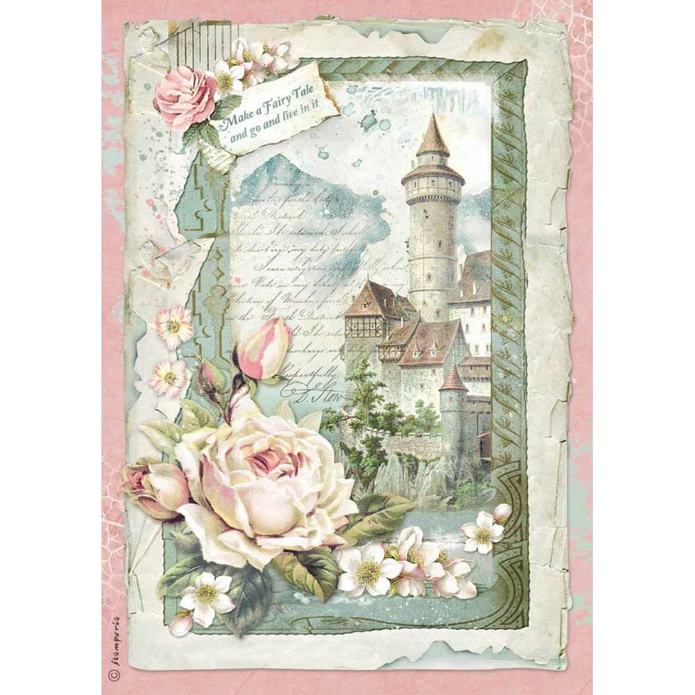 Stamperia A4 Decoupage Rice Paper packed Castle fantasy