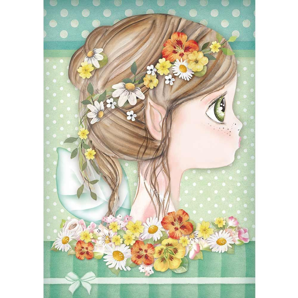 Stamperia A4 Rice paper packed Daisy fairy