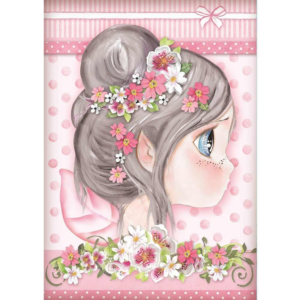 Stamperia A4 Rice paper packed Pink fairy