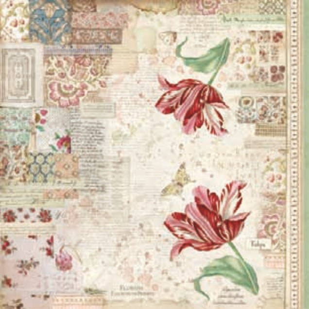 Stamperia Single rice paper napkin 50x50 cm Botanic tulip