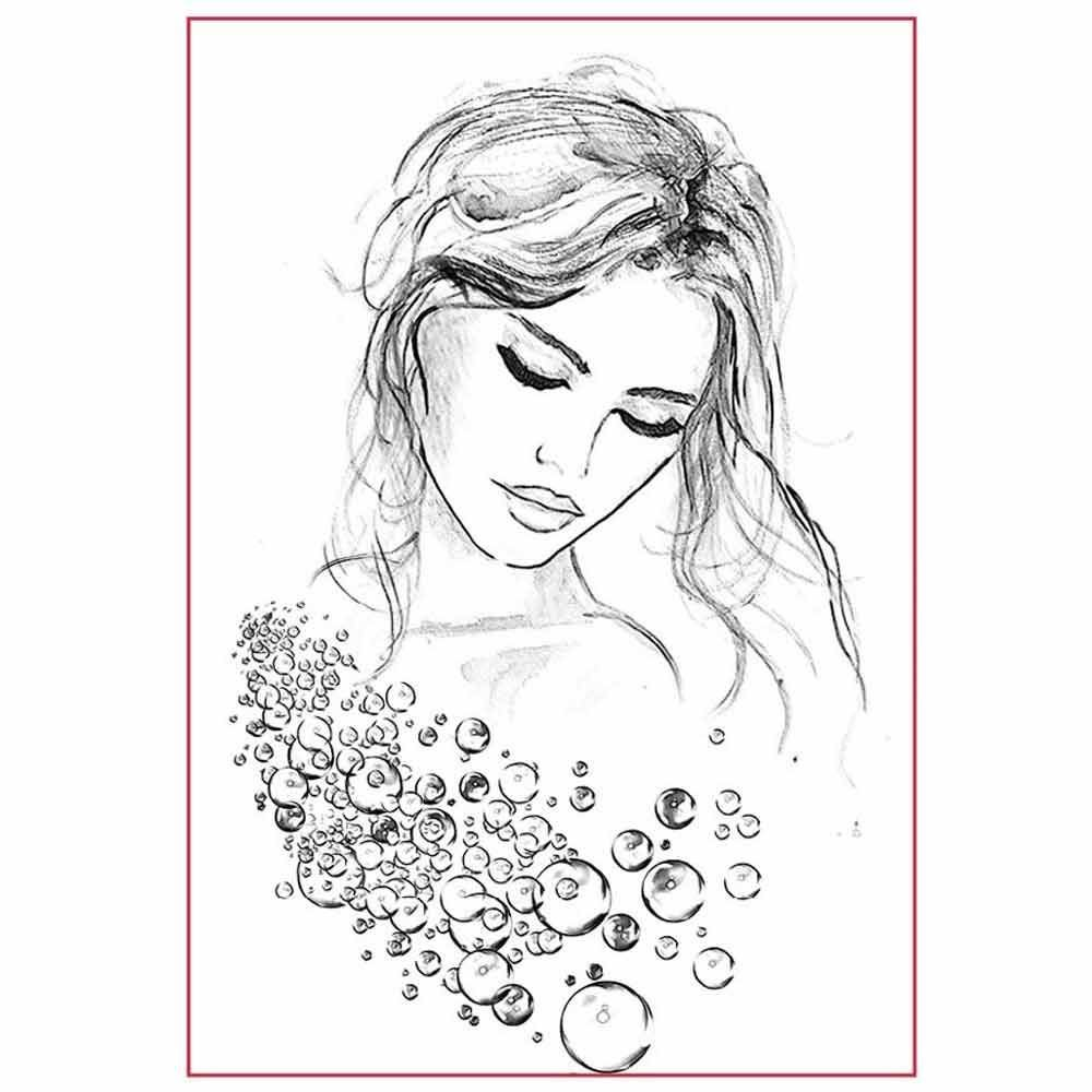 Stamperia Silhouette Art Napkin A4 Woman portrait