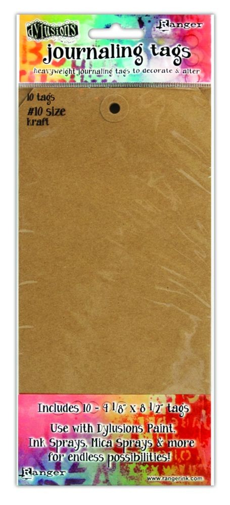 "Ranger Dylusions Kraft #10 Tags (4.125"" X 8.5""), 10 Pack"