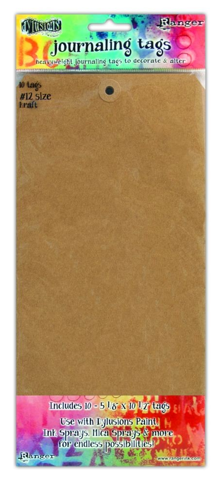"Ranger Dylusions Kraft #12 Tags (5.125"" X 10.5""), 10 Pack"